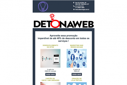 Desenvolvimento E-mail marketing- WL Tecnologia