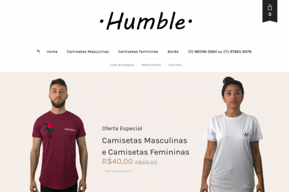 Desenvolvimento de Loja Virtual- Humble- www.usehumble.com