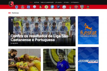 Desenvolvimento de site Liga Paulista de Futsal