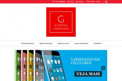 Desenvolvimento de Loja Virtual- G Shopping Variedades