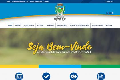 Desenvolvimento de site - Prefeitura Rio Branco do Sul