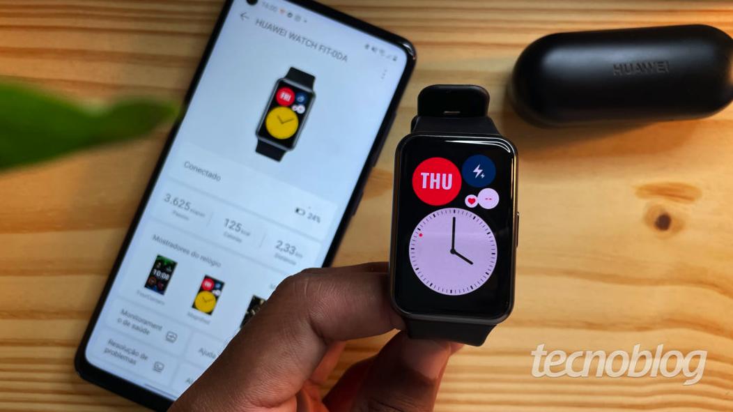 Smartwatch Huawei Watch Fit: elegância e muitos recursos de saúde